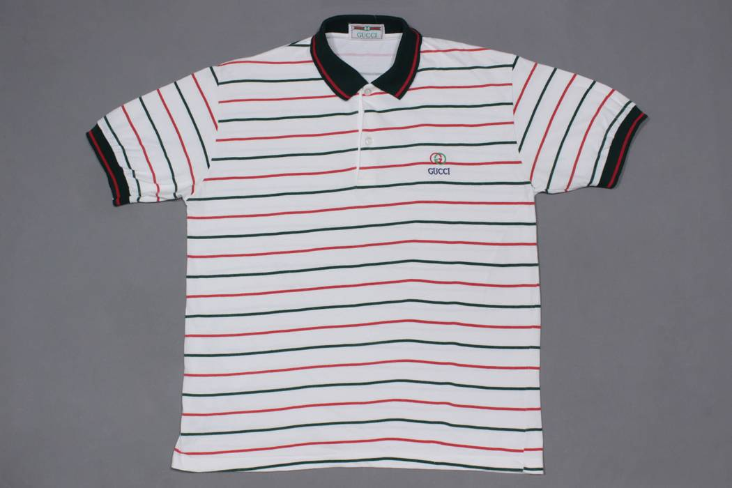 bf9afc32ca9 Gucci RARE vintage striped polo Size m - Polos for Sale - Grailed