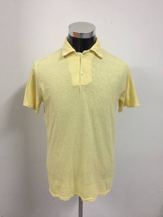 b0b09abf ... australia kapital. kapital hemp yellow plain polo shirt 4a597 4e564