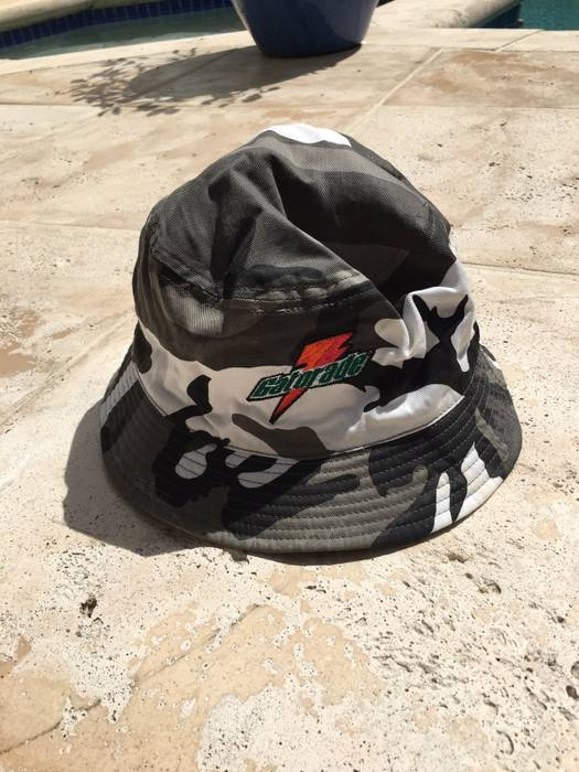Vintage Reversible Gatorade Marlins Camo Bucket Hat Size one size ... 4e268d56c8ba