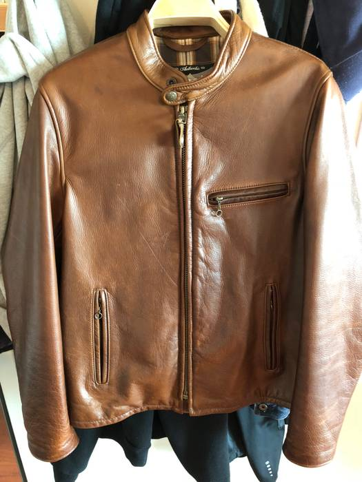 fe51d7424c4 Schott 530 Cowhide Cafe Racer Brown Size M Leather Jackets For