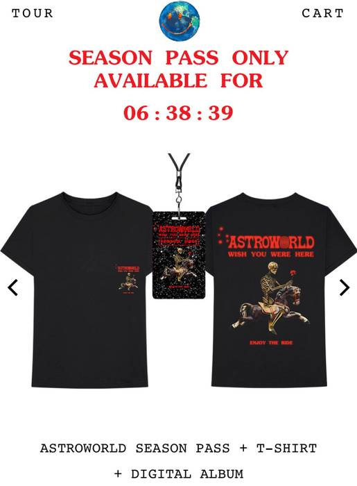 38c25383 Travis Scott Astro World Tee Size m - Short Sleeve T-Shirts for Sale ...
