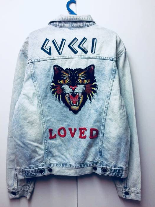e51e53f8835d Gucci EMBROIDERED DENIM JACKET Size xl - Denim Jackets for Sale ...