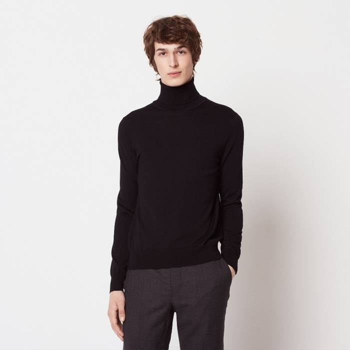 c6f1d37c9 Sandro Dark Grey Wool Turtleneck Sweater Size m - Sweaters ...