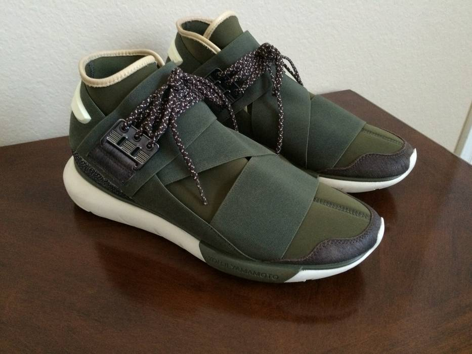 ec38fa628 Y-3 Qasa High (Olive Khaki) Size 10.5 - Hi-Top Sneakers for Sale ...