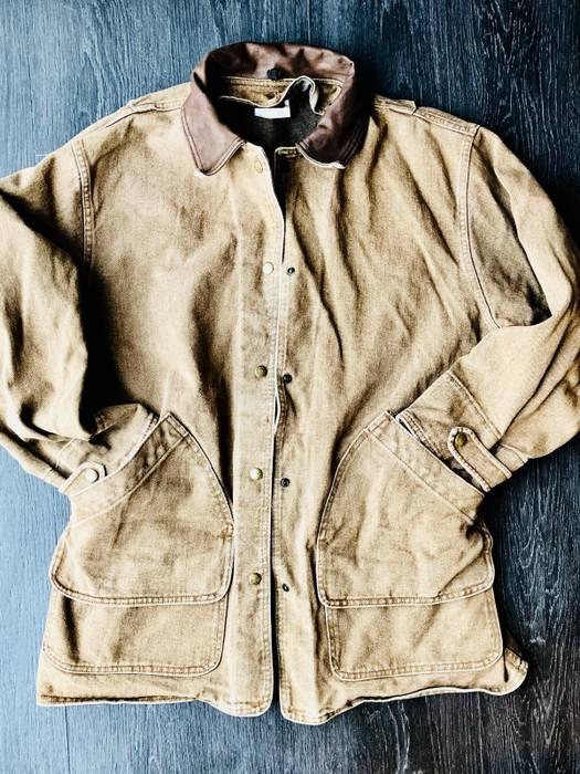 Woolrich Woolen Mills. Vintage Denim USA Made Indian Wool Barn Chore Jacket  Field Coat 6730e95deaef