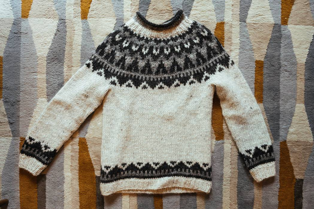 Handknit Traditional Icelandic Sweater Size Xs Sweaters Knitwear