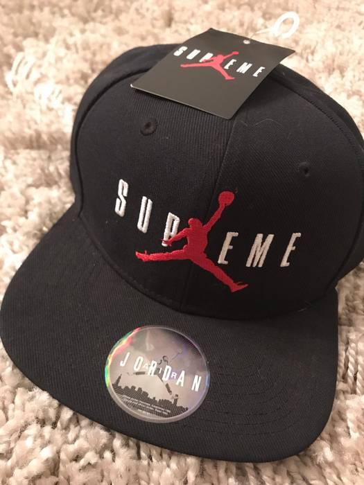 c714b5095 ... real supreme supreme x jordan hat size one size 3 0482f 67b03