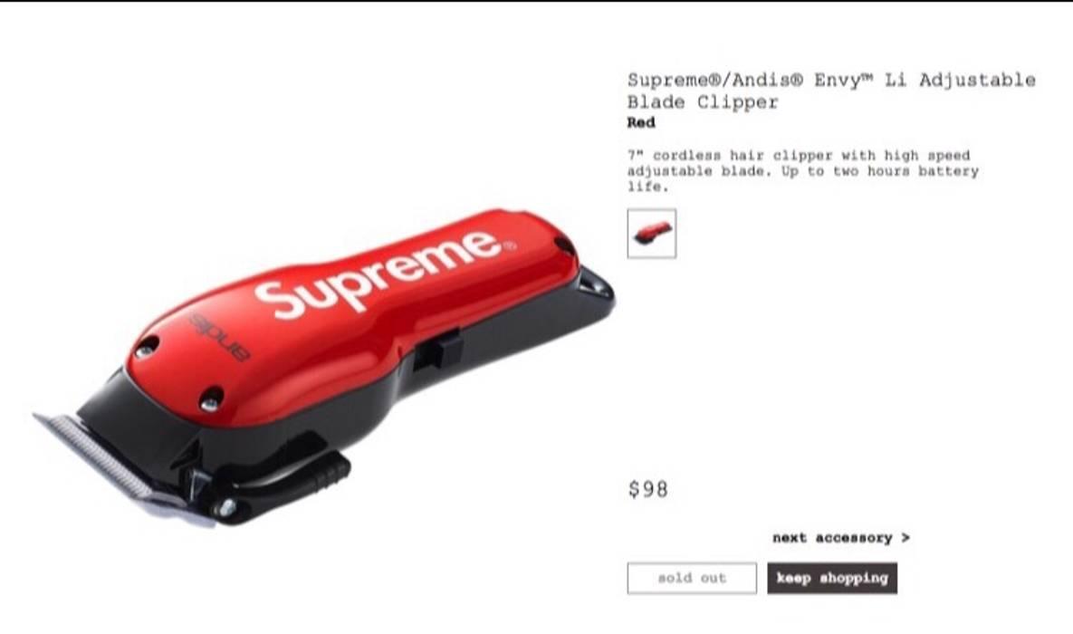supreme supreme andis envy li adjustable blade clipper red size one