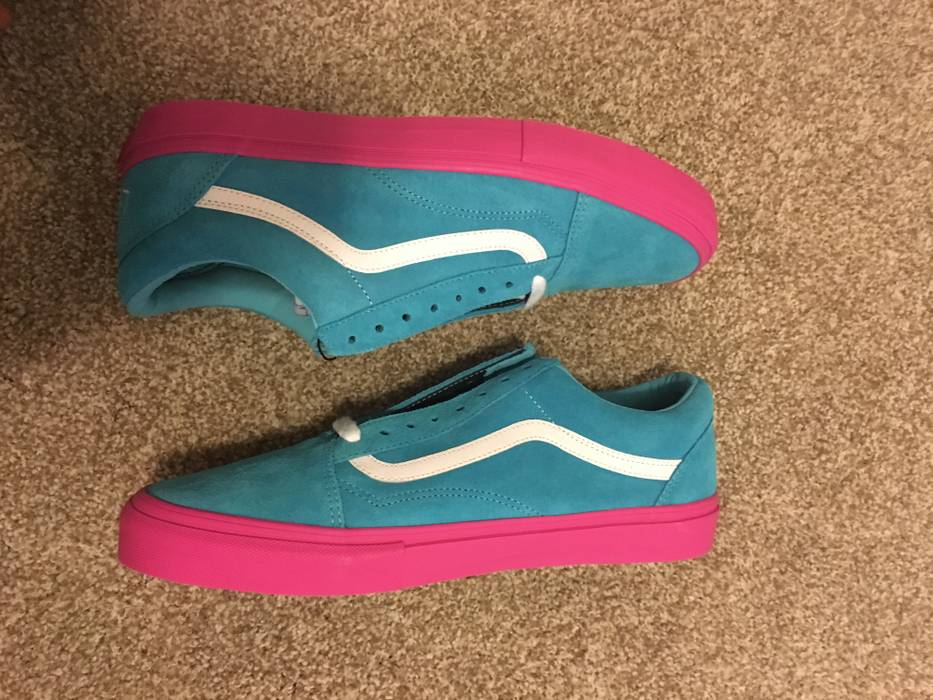 f7c00804c3ca Vans Vans syndicate Golf Wang (Blue Pink) Size 12 - for Sale - Grailed