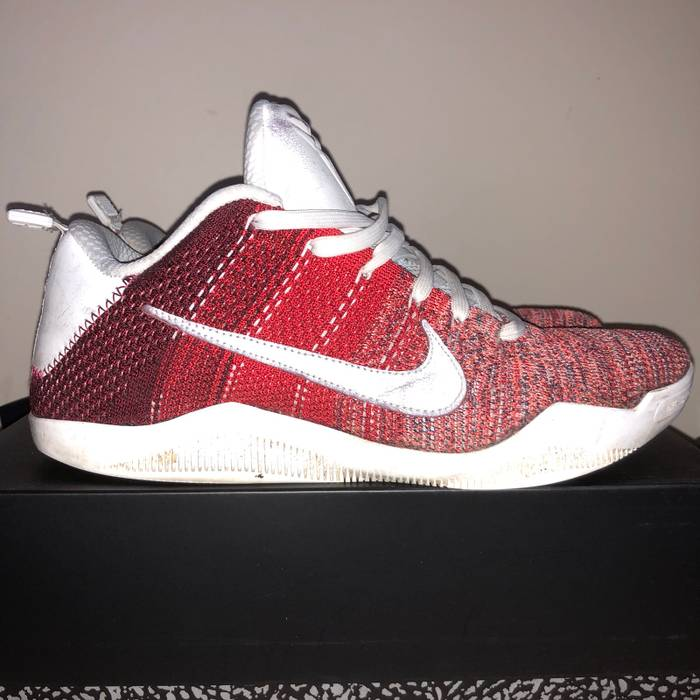 ... clearance nike kobe 9 ix elite low kb4 red white flyknit 11 xi size us  10 021da587d