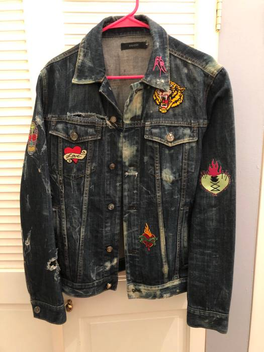 0c765f6b4102 Gucci Patchwork Jacket Size m - Denim Jackets for Sale - Grailed