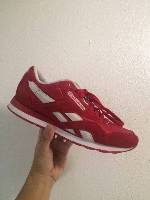 f770afd0ab48b0 Reebok Reebok Classic Red Suede   Nylon Size 9 - for Sale - Grailed