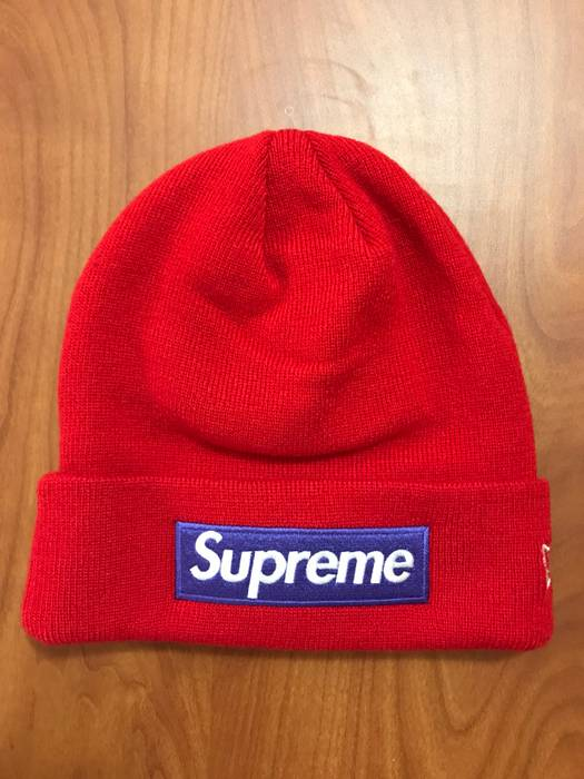Supreme Supreme Box Logo Beanie Red Purple Winter Hat Size one size ... 5696a2b454a