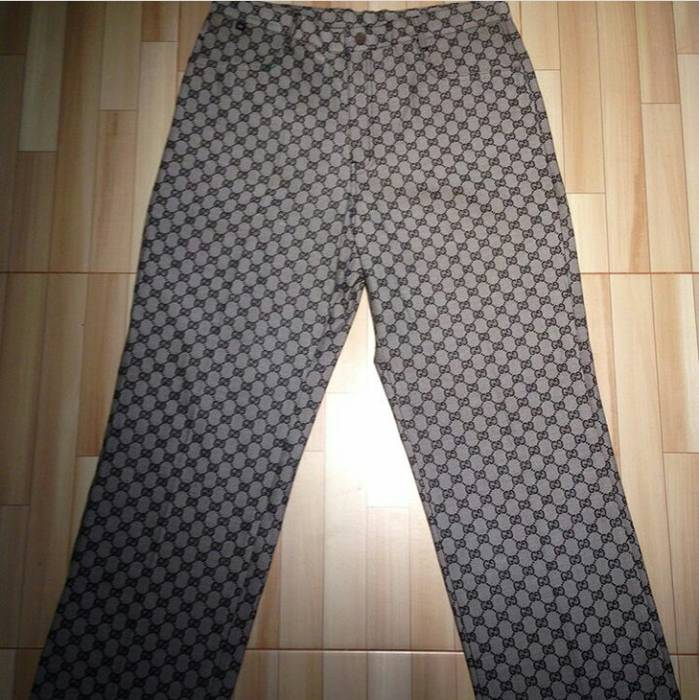 Gucci Vintage Gucci Monogram Casual Pants Made In Italy Not Versace