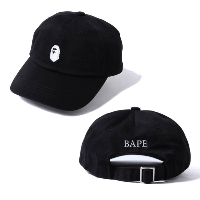 Bape BAPE dad hat strapback black and white only Size one size ... f98e5741ad0