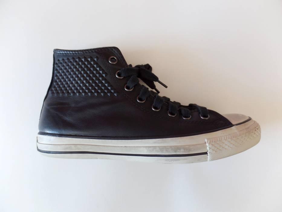 6bc8d5323d9269 Converse John Varvatos JV x Converse Studded Hi Men s 8 Women s 10 Black  Leather Shoes Size