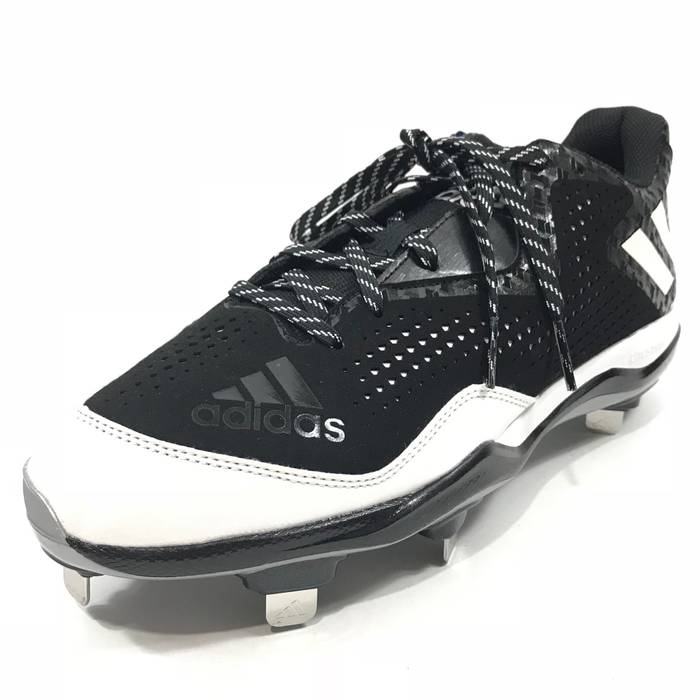 hot sale online 5bade 6a94d Adidas Adidas Mens Power Alley 4 Metal Baseball Cleats Black White Sz 10.5  Q16481 Size US