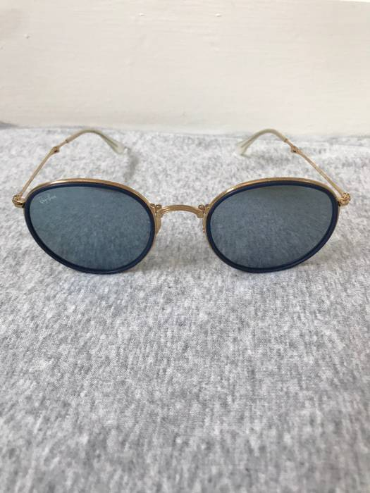e22b9c24e72 ... reduced rayban round folding classic sunglasses lenses silver flash size  one size 24c92 61c3c