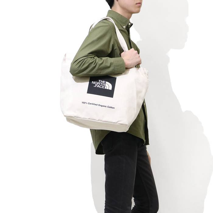 70149d49639 The North Face The North FACE Black logo 100 % Organic Cotton Tote Shoulder  Bag Body