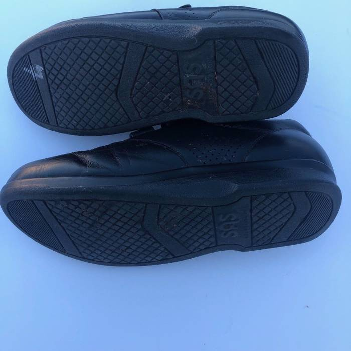 e40d3eb3dae Private Label SAS VTO Mens Black Genuine Leather Double Strap Tripad  Diabetic Shoes 12WW Size US