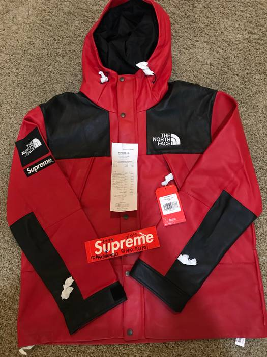 Supreme Supreme Northface Leather Parka Red Xl Size Xl Parkas For