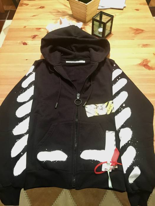4d1c76fd082f Off-White Diagonal Spray Hoodie SS17 Size xs - Sweatshirts   Hoodies ...