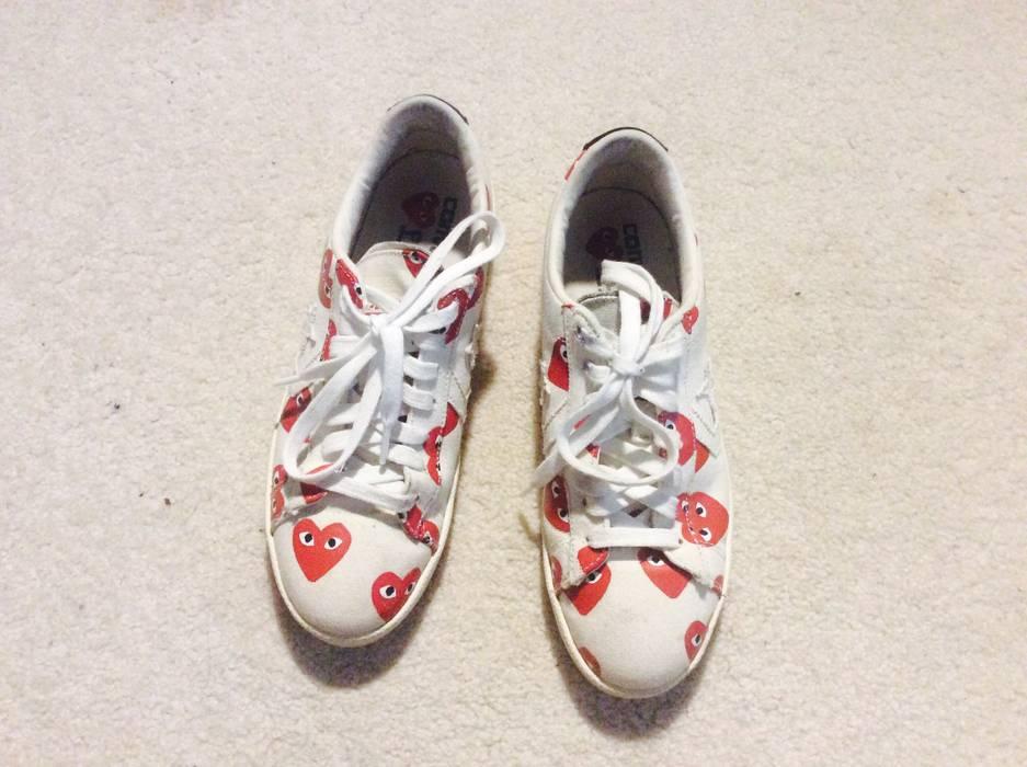 5c6e3bb9cb2103 Converse Converse Comme Des Garcons Pro Leather White Low Top Size US 7    EU 40
