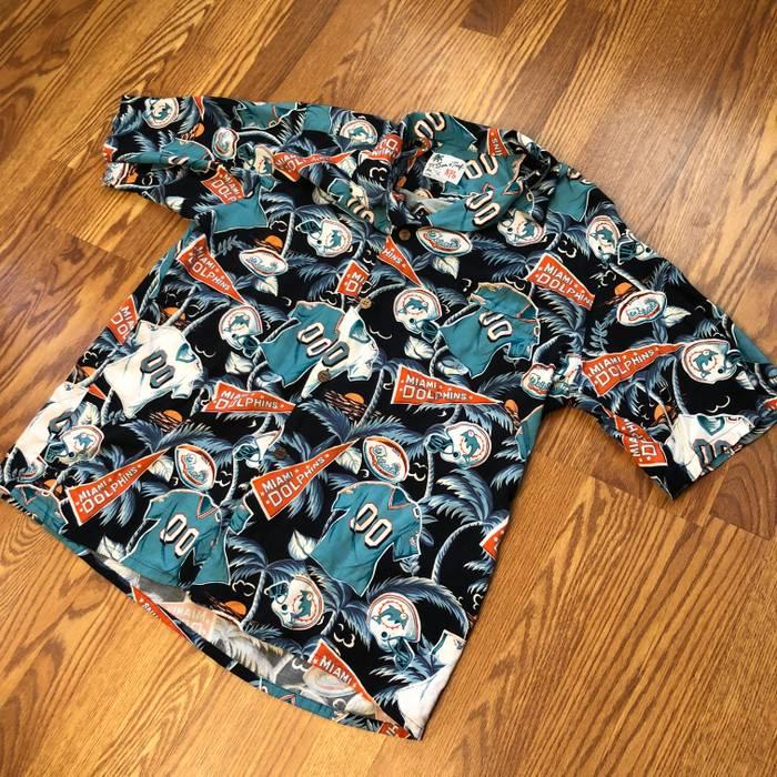 43b7c959d Vintage Miami Dolphins Allover print Hawaiian Shirt Size US XXL   EU 58   5  -