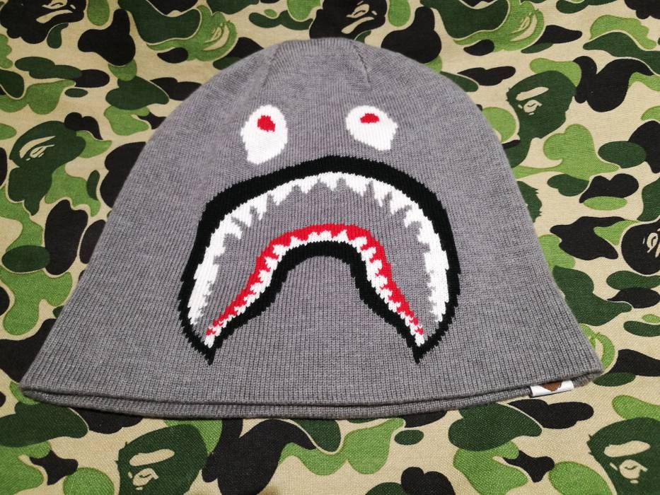 Bape A Bathing Ape Shark Beanie Knitted Size one size - Hats for ... 3f4f7154d56