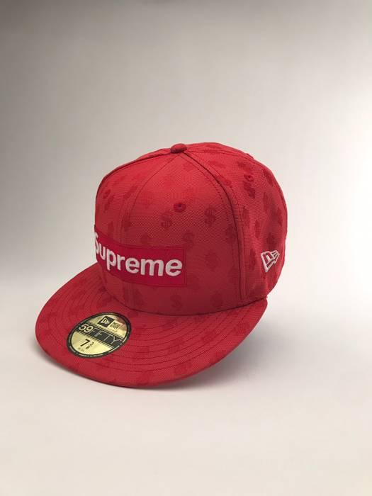 Supreme Supreme Monogram Box Logo x New Era Red Hat 7 3 8 Size one ... fa69918861d