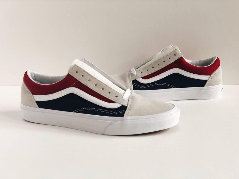 Vans. VANS OLD SKOOL RETRO BLOCK  SZ 9  COLOR BLUE RED YACHT CLUB WHITE  VN0A38G1QKN 851797333
