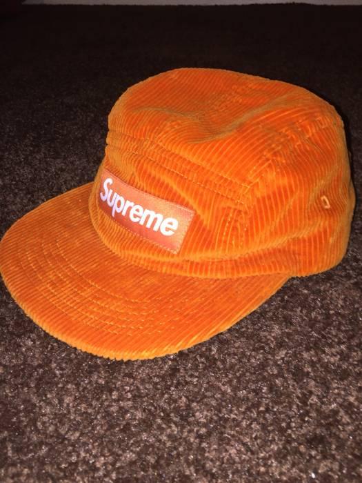 32eea8aed50 Supreme 🚨LAST PRICE DROP🚨Corduroy Camp Hat SS18H0 ORANGE Size ONE SIZE