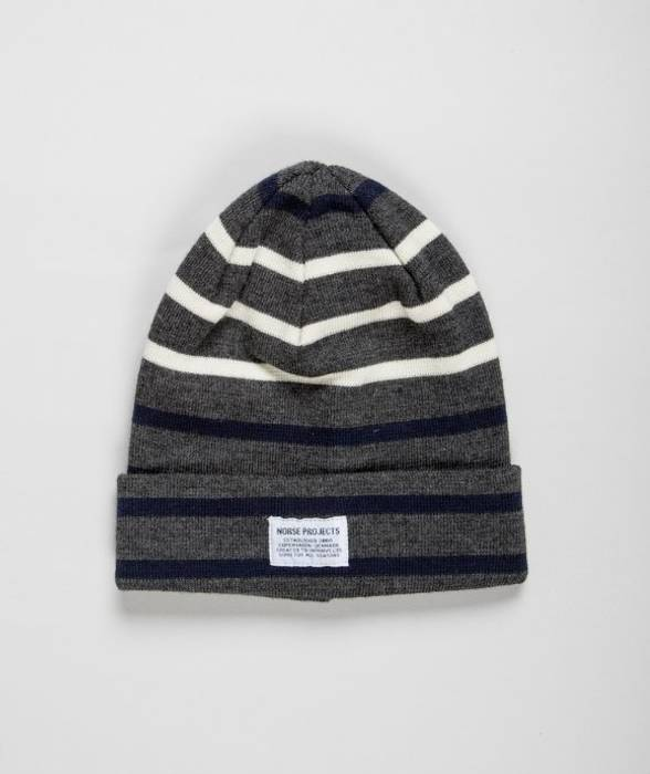 d5e87e71fbe Norse Projects Gerald top beanie dark shadow grey Size one size ...