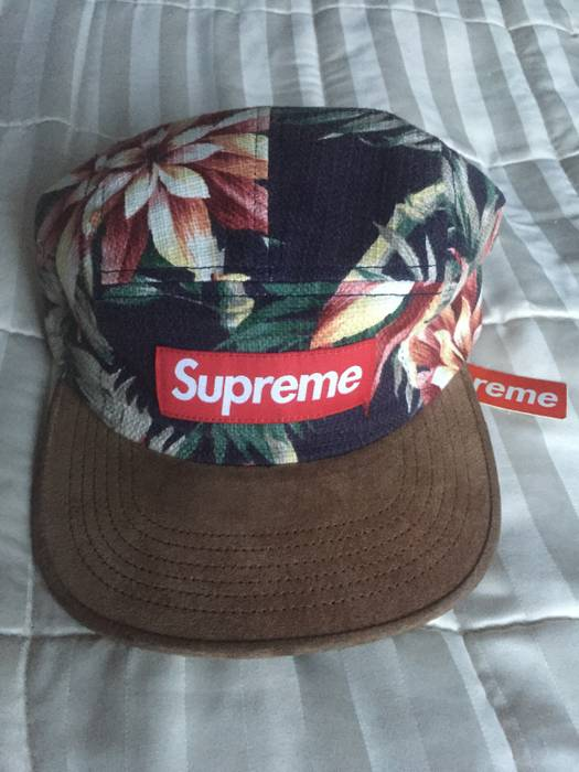 Supreme Floral camp cap Size one size - Hats for Sale - Grailed e6a703f1edb