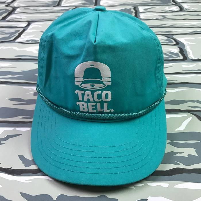 Vintage VTG 90s Taco Bell Snapback Teal Rare Size one size - Hats ... 1317fafbb14