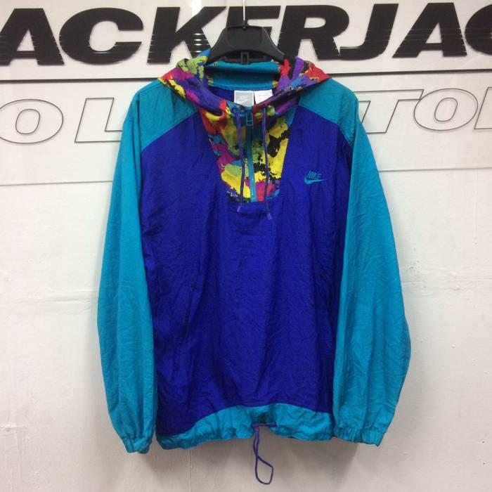aeb07834b4dc Nike Vintage Nike Half Zip Rainbow Hoodie Color Block Jacket Size xl ...