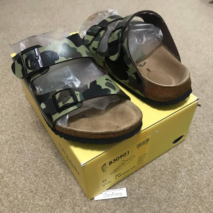 Bape 2007 Green Bape x Tatami Birkenstocks Size 9 - Sandals for Sale ... ca3ba4da54