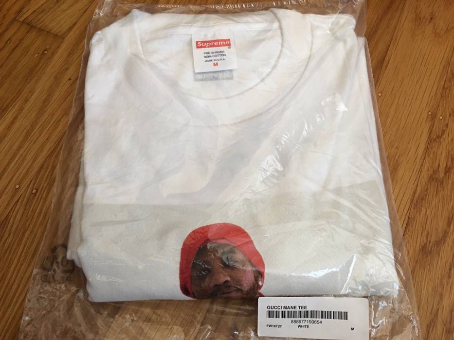 8d26f023caf Supreme Gucci Mane Tee White Size m - Short Sleeve T-Shirts for Sale ...