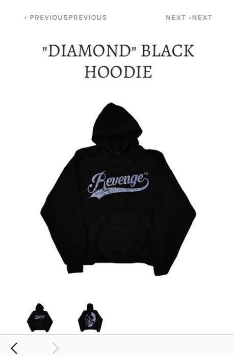 56507bec8c8 Revenge Revenge Diamond Hoodie Size m - Sweaters   Knitwear for Sale ...