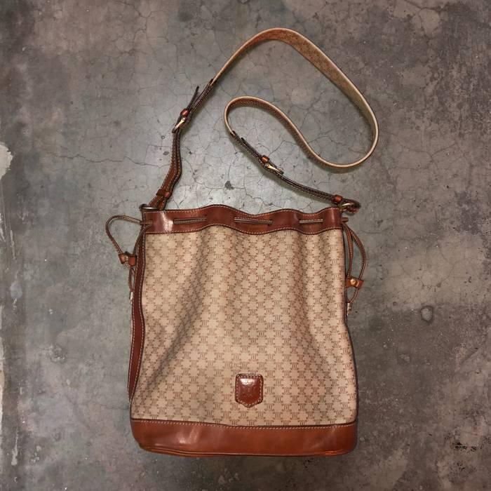 6f34411db6 Vintage Vintage Authentic Celine Beige Cognac Macadam Bucket Bag Size ONE  SIZE