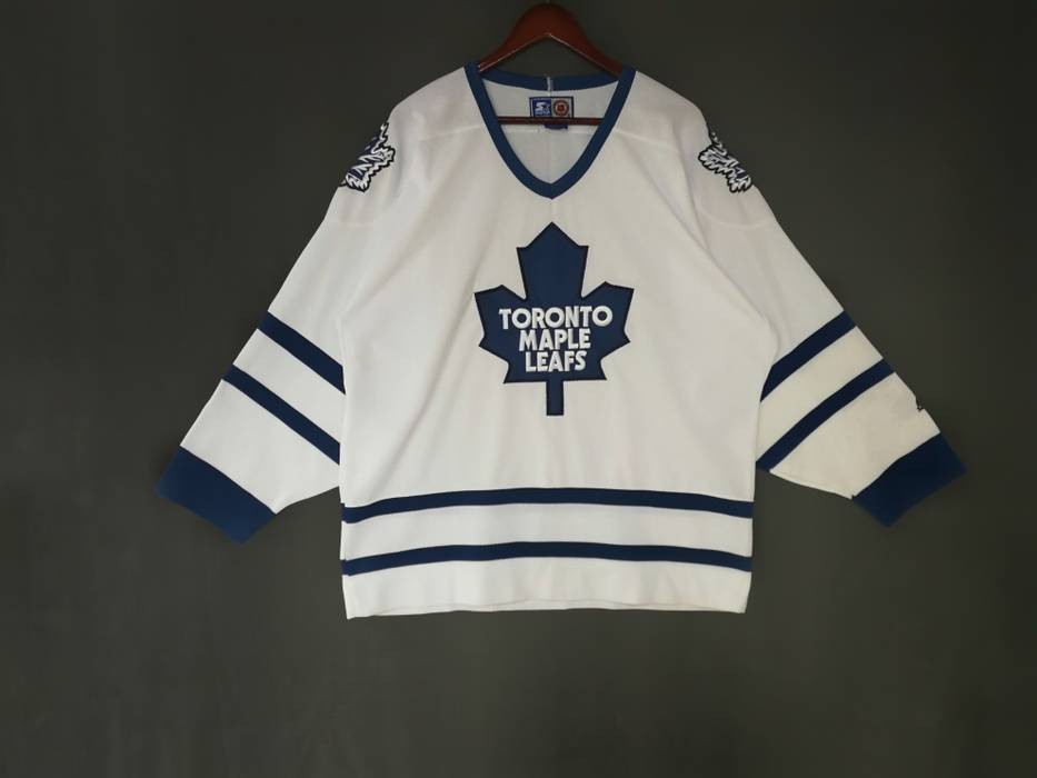 Vintage Toronto Maple Leafs embroidered logo ice hockey jersey by Starters  not Montreal Canadiens sweatshirt Washington 44f573042