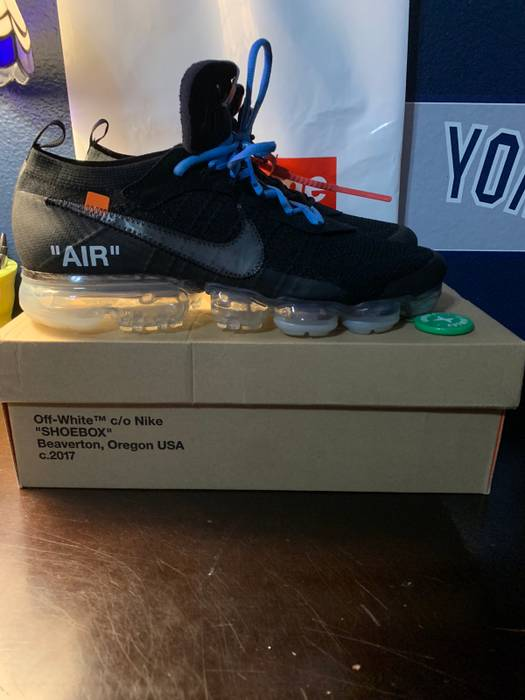 Nike Off White Vapormax Black Lightly Used Og All 9.5 10 Size 11 Stockx  Verified aaa2f0f50