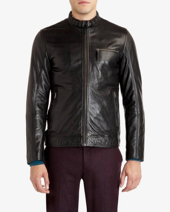 01234132e Ted Baker VISERY Leather jacket Size m - Leather Jackets for Sale ...