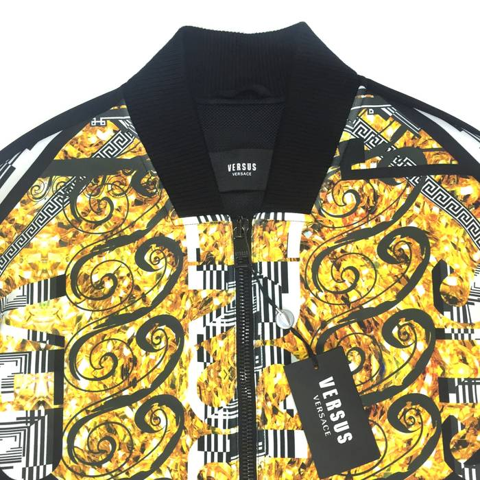 Versus Versace Barocco Print Bomber Jacket Nwt Size M Bombers For