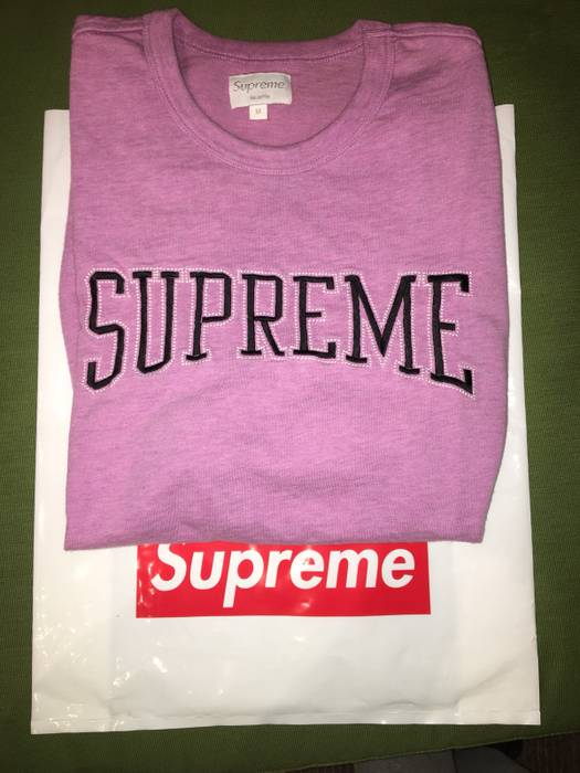 Supreme Supreme Dotted Arc Heather Magenta Top Size m - Short Sleeve ... 18097cb3808