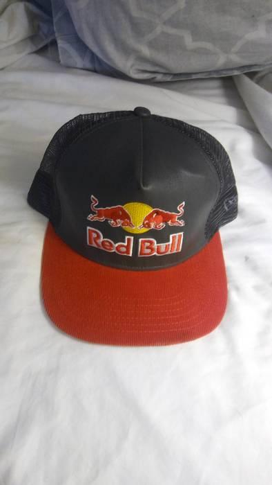 New Era Rare Red Bull Athlete Only New Era SnapBack Trucker Hat Size ... 285ea5ac5d9