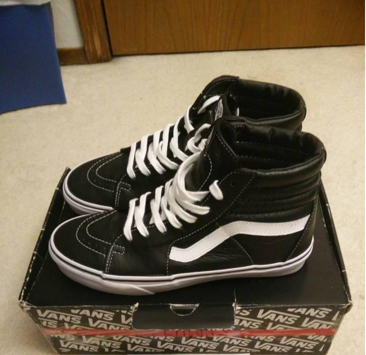 e1dc5ac43502c9 Vans Vans Sk8 Hi Aged Leather Black Size 9.5 - Hi-Top Sneakers for ...