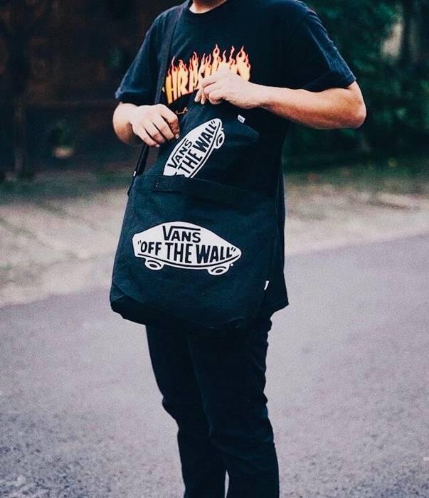 17396a7c587 Vans Vans Black Tote Bag shoulder bag crossbody bag handbag 2 pcs set Size  ONE SIZE