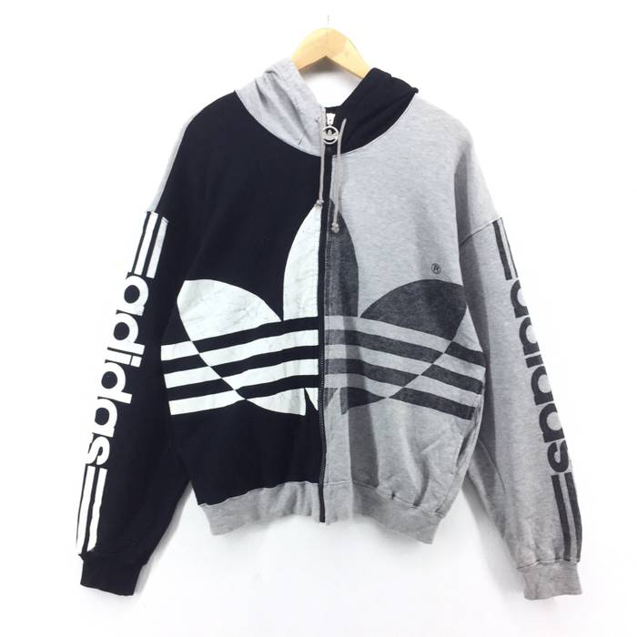 ae25fe81f8e2 Adidas Vintage Adidas Sweatshirt Jacket   Adidas Hoodie   Adidas Bomber  Jacket Size US L
