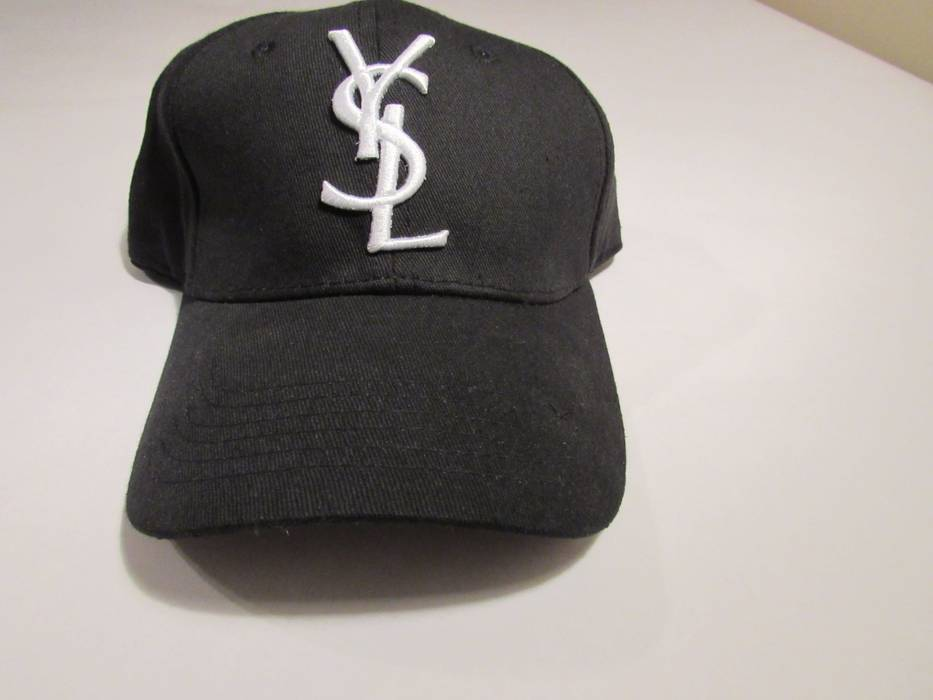 Saint Laurent Paris Yves Saint Laurent Logo Hat Size one size - Hats ... 7e2860f6558